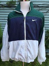 Vintage Nike 90s Windbreaker Zip Up Track Jacket Colorblock Retro Size Large