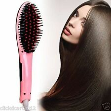 Fast Hair Straightener Iron Comb Brush Massager With LCD Display Beauty Set