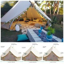 4-Season Bell Tent 3/4/5/6/7M Waterproof Cotton Canvas Glamping Camping Beach US