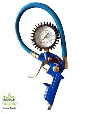 Tire Inflator, 3-in-1 Inflation Gun-Locking Chuck and 2inch Gauge,special offer