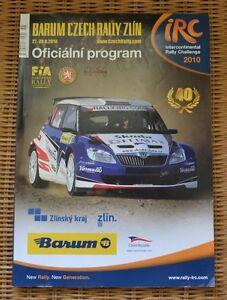 2010 Barum Czech Rally IRC Intercontinental Challenge European FIA Race Program