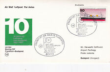 West Germany 1977 Lufthansa 10th anniversary of Budapest Service Cover VGC