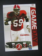 2008 Alabama vs Ole Miss Football Program Postcard Official Reproduction