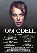Tom Odell 2016 United Kingdom Concert Tour Poster - Indie Pop Music