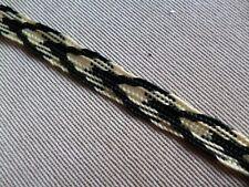 5M Black-yellow Synthetic SILK TSUKA ITO FOR JAPANESE sword (tsuba-fuchi-seppa)
