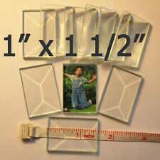 ( 4 ) 1 x 1-1/2 inch Clear Glass Rectangle Bevel 1.5 x 1 pencil style Bevels