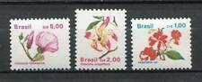 38791 ) BRASIL 1989 MNH** Flowers 3v