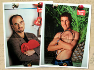 Marat Safin / Andre Agassi two-sided magazine poster A3