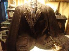 Zara Brown  Jacket Blazer with Ribbon Detailing Wool Blend  size 4
