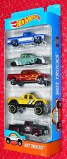 Hot Wheels HOT TRUCKS 5-pack  DJD28 SILVERADO NISSAN TITAN TOYOTA TUNDRA 49 FORD