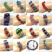 Bracelet Wristband Bangle Jewellery Women Tibetan Style Silver Lucky Beads
