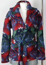 Ralph Lauren Hand Knit Beacon Sweater Jacket Womens  Cashmere Wool New (LARGE)