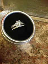 White Gold Filled Sapphire Costume Rings