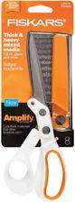 "Fiskars Amplify Scissors 8"" for Thick & Heavy Mixed Media Fabric Paper Softgrip"