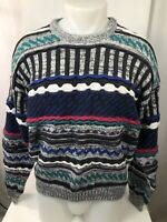 1990s Vintage ETCHINGS - Coogi / Cosby Style Heavy Knit Mens Lg. Sweater