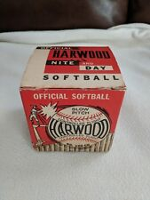 Vintage Official Hardwood No 100 Cn-12 Nite and Day Softball with Red Box, Haiti