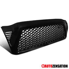 For 05-11 Toyota Tacoma Glossy Black ABS Mesh Honeycomb Front Hood Grill Grille