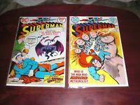SUPERMAN   NO.267  &  NO.271   FN 1973 - 74   DC  COMICS  LOT OF 2