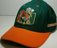 Vintage College Football Miami Hurricanes NCAA Fitted Team Hat Cap Starter USA