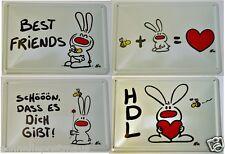 Nic Blechkarte Wandbild Blechbild Best Friends Geschenkkarte Herz Beste Freunde