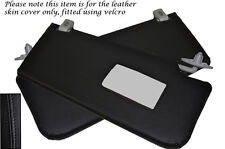 BLACK STITCH FITS MERCEDES E CLASS W211 02-08 2X SUN VISORS LEATHER COVERS ONLY