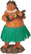 New Hawaiian Hawaii Dashboard Hula Doll Local Boy Men Ukelele Green #40624