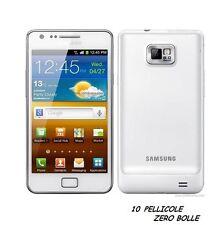 10 Pellicola OPACA per Samsung I9100 Galaxy S II S2 Protettiva Pellicole MATT