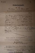 extrait acte de naissance Alsace Turckheim An 1885