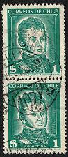 CHILE PAIR STAMP RPO RAILWAY CANCELLATION AMBULANCIA # 107
