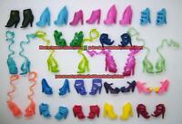 Lot of 15 Pairs Randomly Selected Monster High Doll Accessories High Heel Shoes