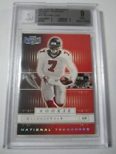 2001 Playoff Preferred MICHAEL VICK National Treasures SILVER Rookie BGS 9 #/275