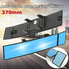 Universal Wide Angle Car Rear View Interior Double Mirror Convex Glass Blue Tint