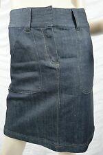 SABA dark blue denim A-line skirt size 8 NWOT