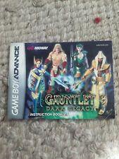 Gauntlet Dark Legacy, Manual, instruction booklet only Nintendo Gameboy Advance