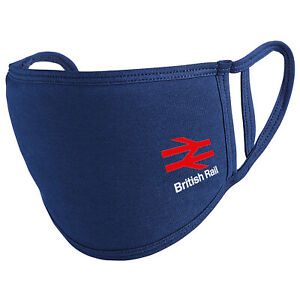 British Rail BR Arrows Reusable Washable Face mask/Covering - Navy