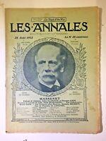 Les Annales N°1522 - 25 Aout 1912, MASSENET,  Partition musique