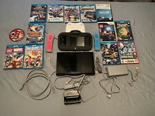 NINTENDO WII U 32GB CONSOLE WITH 13 GAMES + 3 CONTROLLERS - BlackWUP-101(02)