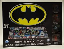 Gotham City 4D Cityscape Puzzle 839 Pieces [Batman Poster Included, Miniatures]