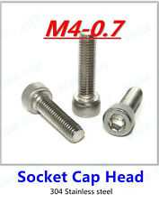 M4-0.7 Hex Socket Cap Head Screw Bolt 304 Stainless Steel DIN912