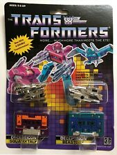 TRANSFORMERS G1 DECEPTICON SQUAWKTALK & BEASTBOX MOSC! US SELLER RARE!