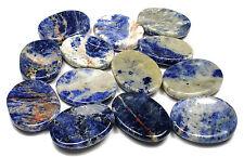 CARVED - (1) SODALITE Crystal Worry Stone w/Description - Healing Reiki Stone