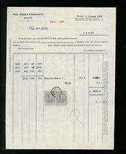 LETTERE COMMERCIALI RAG. ANGELO CHIEREGATO MODENA 1925