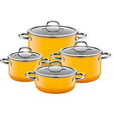 Silit Topf-Set 4-teilig Passion Yellow Made in Germany induktionsgeeignet