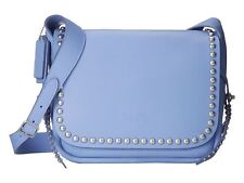 COACH Rivets Dakotah Crossbody in Calf Leather in Periwinkle Blue 35753