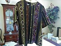 Ship 'N Shore Women's Short Sleeve Pullover Blouse Top Size 16 Polyester
