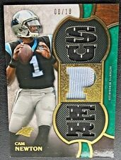 Cam Newton *3-Color JERSEY RELIC #d/18* 2015 Topps Threads Football Card