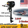 3.6 HP Heavy Duty Outboard Motor Boat Engine 2 Stroke Water Cooling CDI System