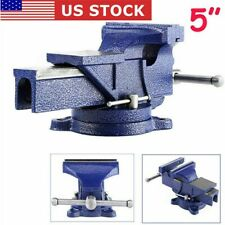 5 Heavy Duty Work Bench Vice Vise Workshop Clamp Engineer Jaw Swivel Base Table