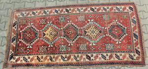 Antiker Orient Teppich Kazak Kasak Galerie ca 235 cm x ca 117 cm Kaukasisch