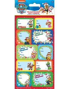 PAW PATROL Christmas Gift Labels x 20